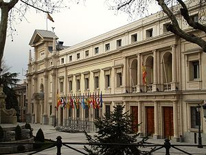 Fachada Senado de España
